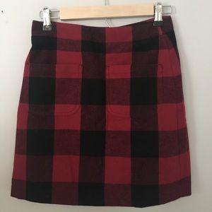 J.Crew Buffalo Plaid Mini Skirt